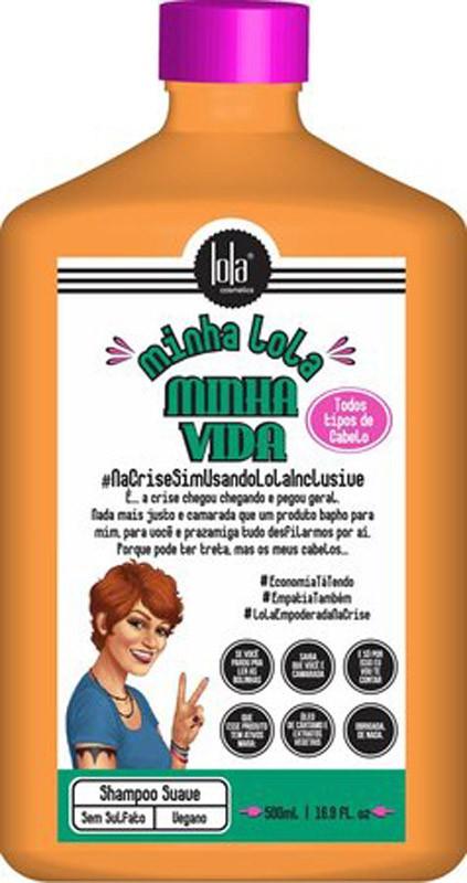 SHAMPOO MINHA LOLA MINHA VIDA - LOLA COSMETICS 500ML