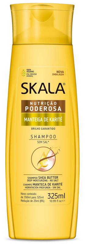 SHAMPOO NUTRIÇÃO PODEROSA MANTEIGA DE KARITÉ 325ML - SKALA