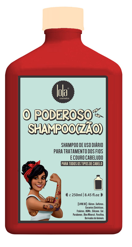 SHAMPOO O PODEROSO SHAMPOO(ZÃO) 250ML - LOLA
