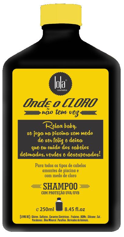 SHAMPOO ONDE O CLORO NAO TEM VEZ 250ML - LOLA