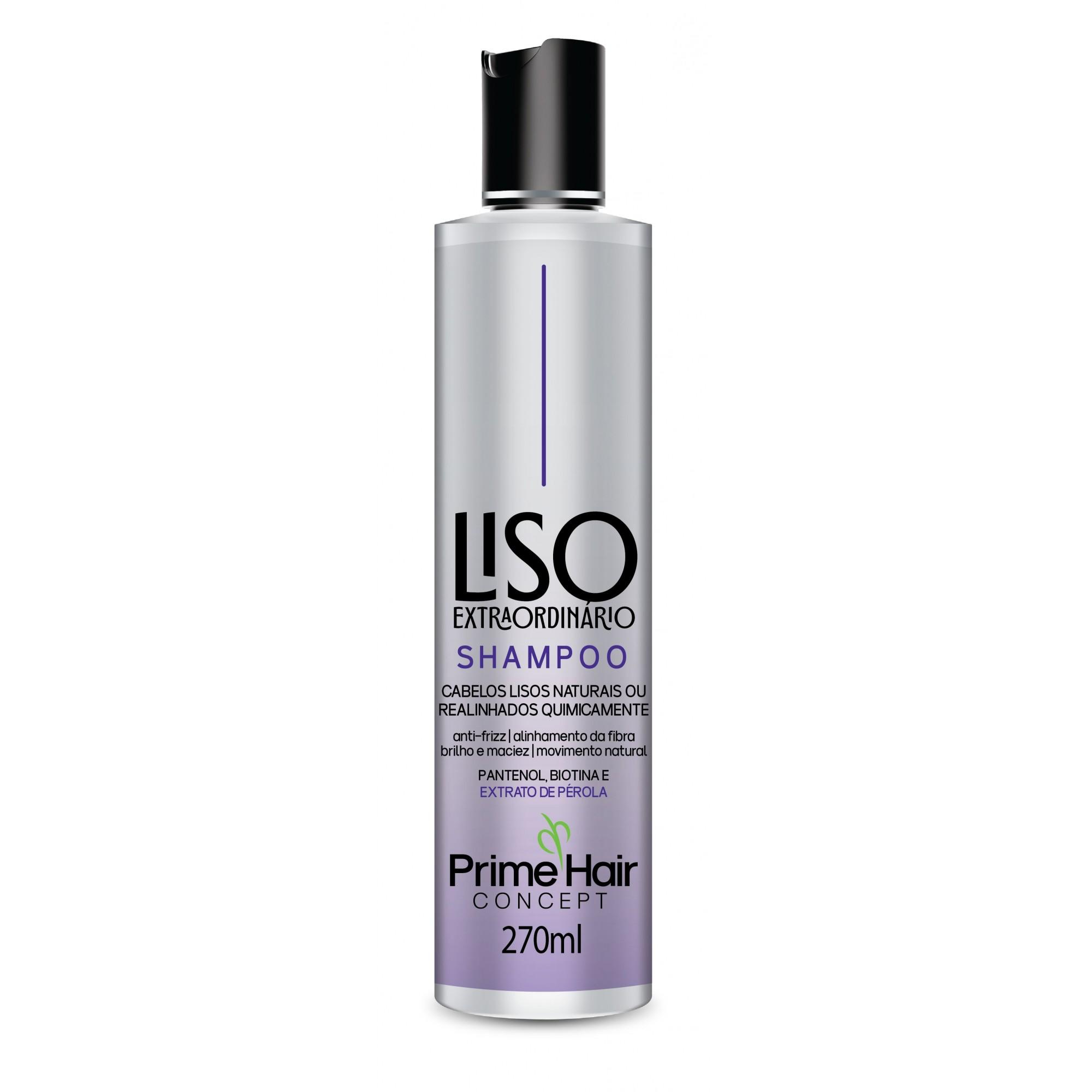 SHAMPOO CONCEPT LISO EXTRAORDINÁRIO 270ML - PRIME HAIR