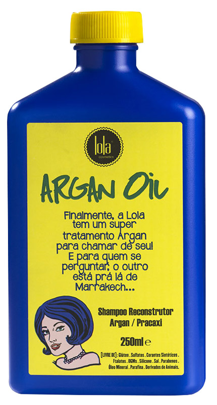 SHAMPOO RECONSTRUTOR ARGAN OIL 250ML - LOLA