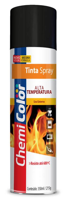 Tinta Chemicolor Alta Temperatura Preto Fosco - Baston 350ml