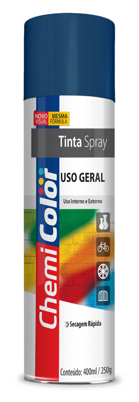 TINTA CHEMICOLOR USO GERAL GRAFITE 400ML - BASTON