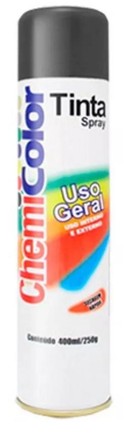 TINTA CHEMICOLOR USO GERAL PRETO SEMI BRILHO 400ML - BASTON