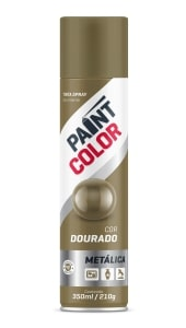 TINTA PAINT METALICA DOURADO 350ML - BASTON