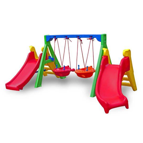 Balanço Baby Play Plus Duplo | 3m15 x 2m10 x 1m25 | 1 a 5 anos