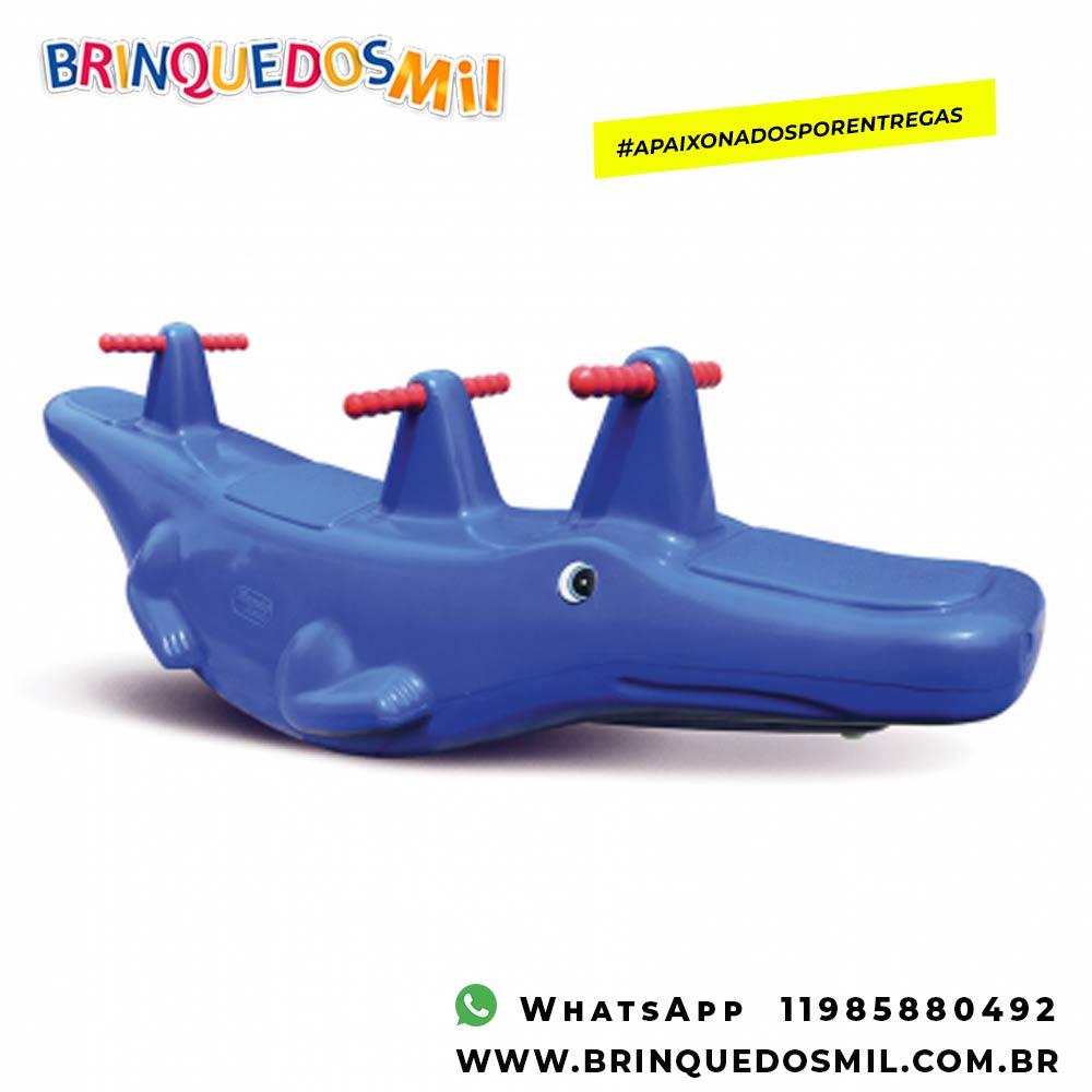 Gangorra Crocodilo | 1m51 x 50cm x 41cm | 3 crianças