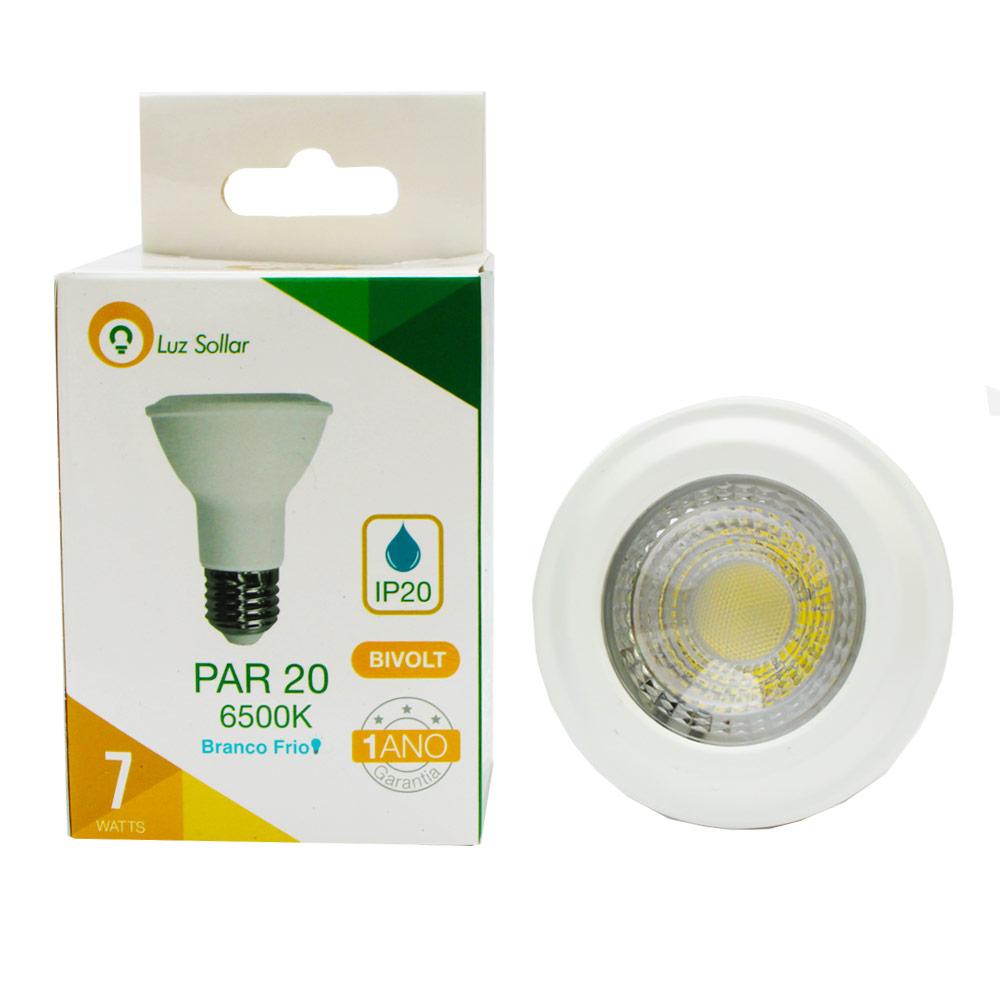 Lâmpada  LED 7W PAR 20 - 6500k - Branco Frio - Luz Sollar