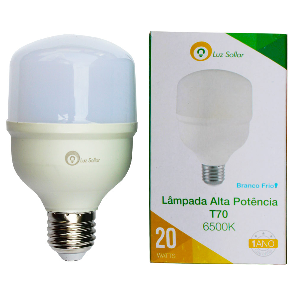 Lâmpada LED Bulbo 20W T70 - Branco Frio 6500K - Luz Sollar