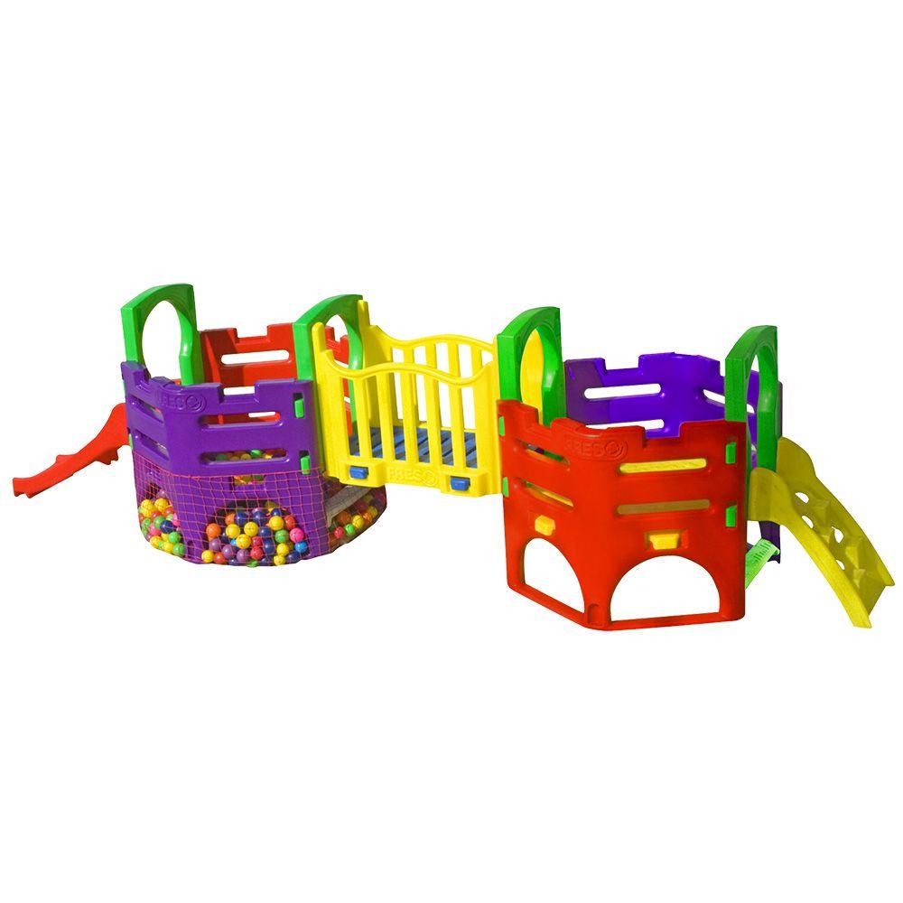 Playground Miniplay Plus   5m20 x 1m40 x 1m30   1 a 6 anos