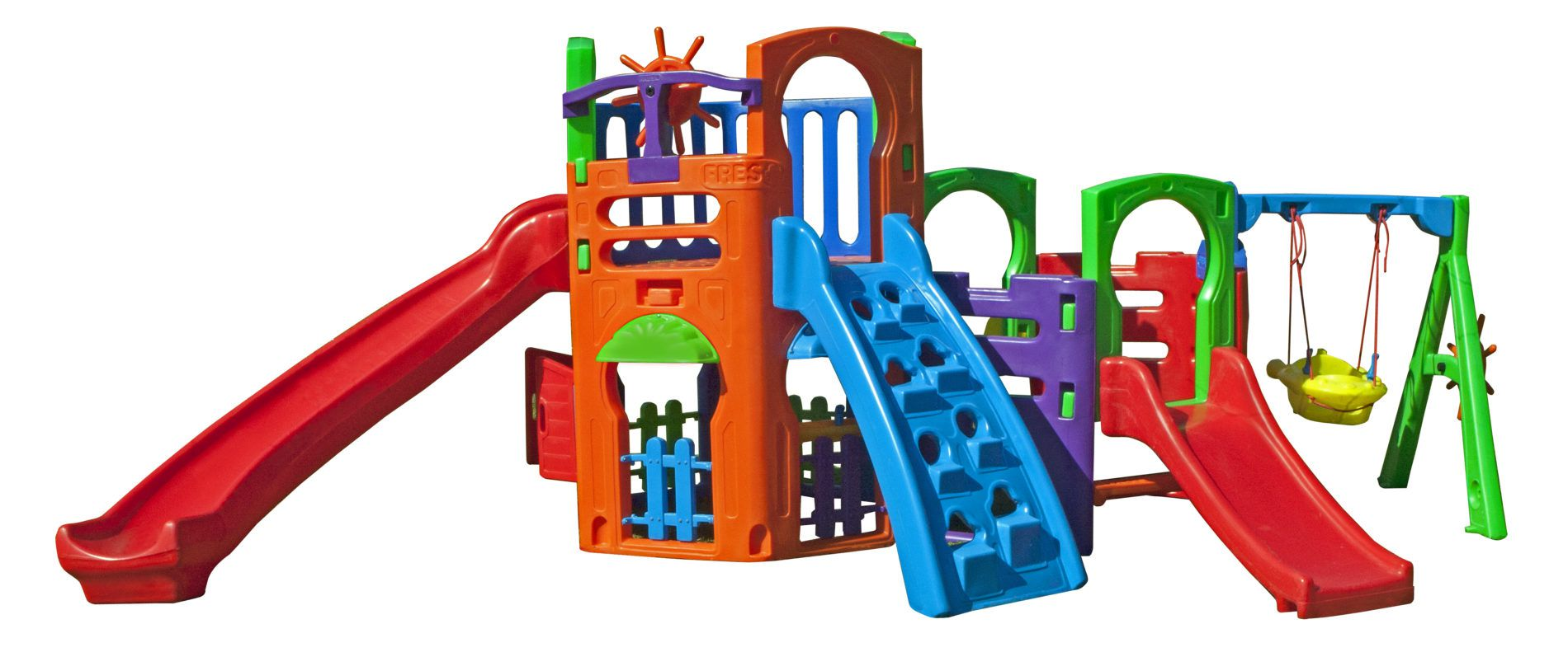 Playground Multiplay House + Kit Fly | 5m x 2m50 x 1m85 | 1 a 12 anos