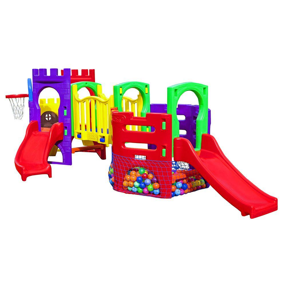Playground Petit Play Festa | 4m85 x 2m65 x 1m48 | 1 a 6 anos