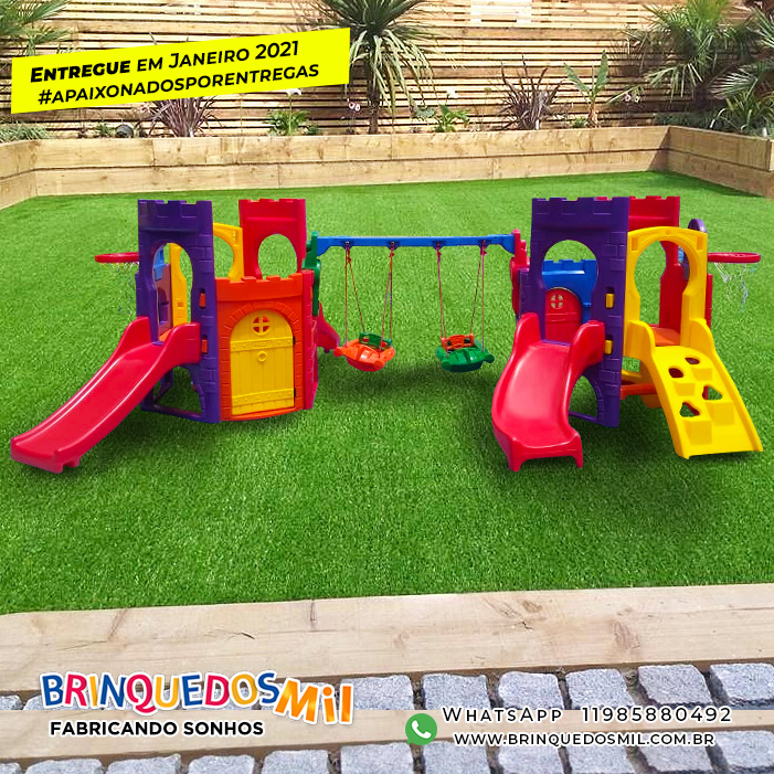 Playground Petit Play Plus | 4m95 x 3m25 x 1m48 | 2 a 5 anos