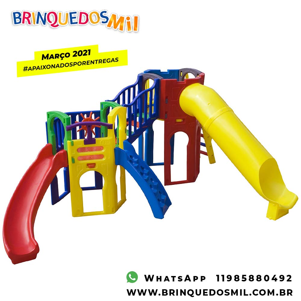 Playground Colúmbia | 5m70 x 3m50 x 2m20 | 1 a 12 anos