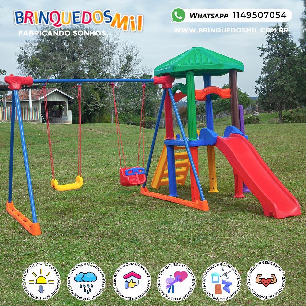 Playground Millenium Fly | 3m90 x 3m20 x 2m30 | 1 a 12 anos