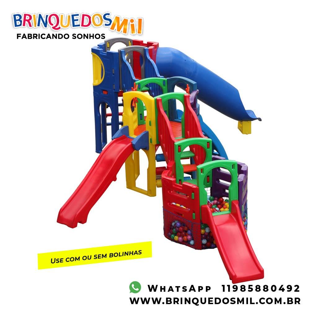 Playground Polaris Festa | 7m20 x 4m80 x 2m20 | 1 a 12 anos