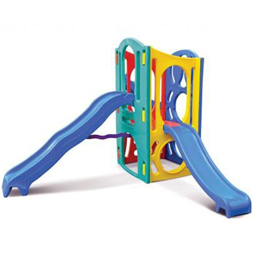 Playground Super com 2 escorregadores   2m55 x 2m10 x 1m80   2 a 10 anos