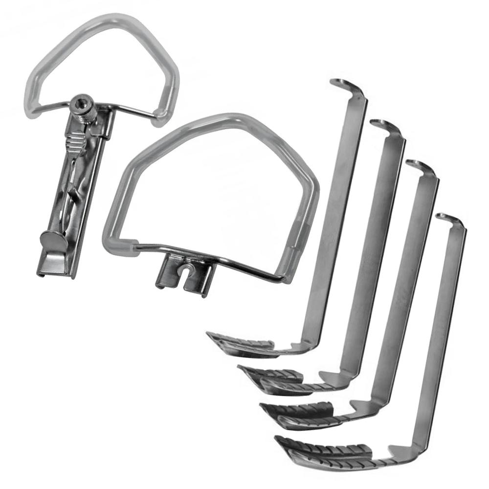 Abridor de Boca Mc Ivor com 2 arcos e 4 lâminas de cânula