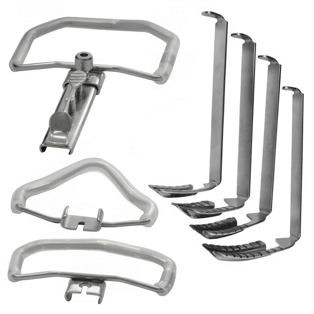 Abridor de Boca Mc Ivor com 3 arcos e 4 lâminas de cânula