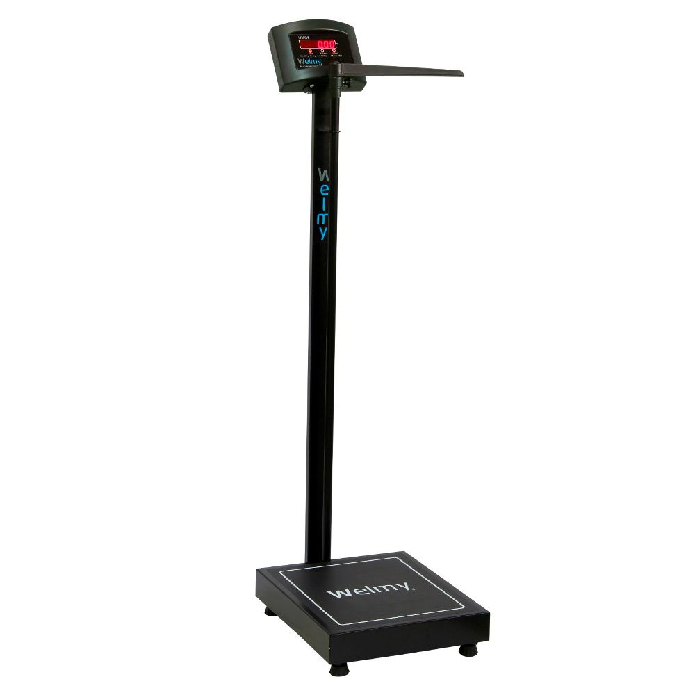 Balança Eletrônica Antropométrica 200kg Preta W200A