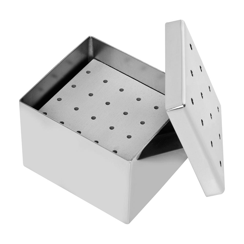 Estojo / Caixa Inóx Perfurada endo 24 furos 7 x 6 x 5 cm