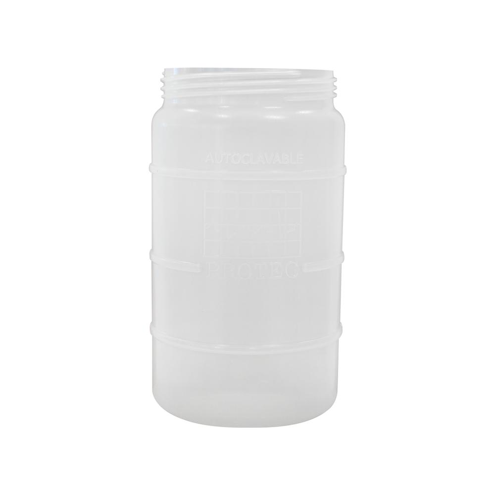 Frasco de plástico de 1,5 litro autoclavável