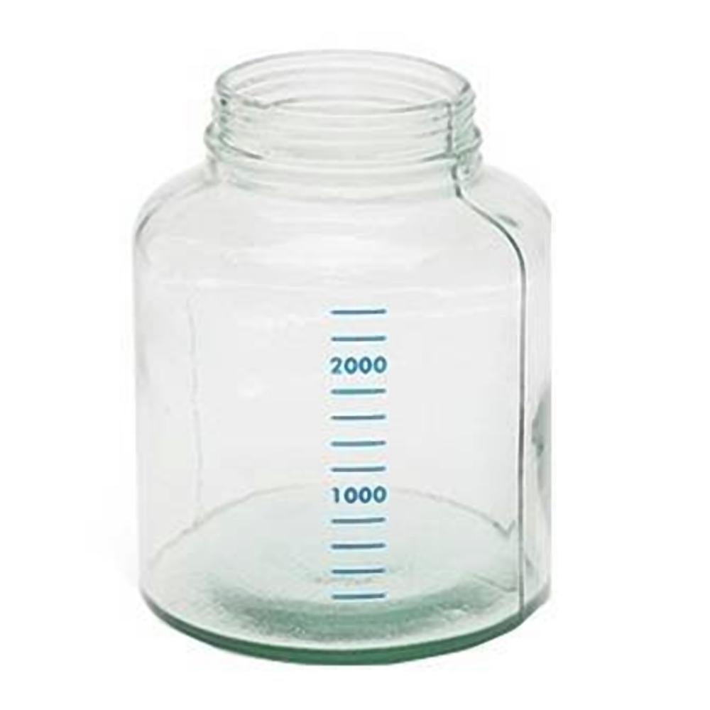 Frasco de vidro de 3 litros para aspirador