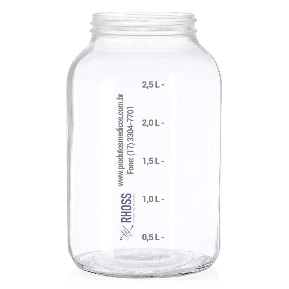 Frasco de vidro de 3 litros para Lipoaspirador