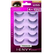 Cílios postiços au naturalle Kiss Ny i-envy multi pack com 5 pares KPEM08BR