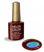 Esmalte em gel Helen Color 10ml - vermelho escuro #78