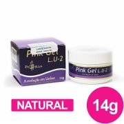 Gel para unhas piu bella lu2 pink (rosa) 14g - natural