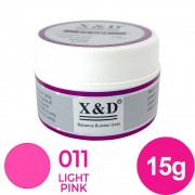 Gel para unhas - X&D de 15G LIGHT PINK 011 Gel Construtor (alongamento) UV/LED
