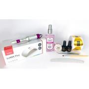 Kit para alongamento em gel com molde adesivo + Cabine Sun9X Plus 36w e Motor Beltec LB50 - nível profissional