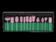 Kit brocas com 12 modelos de Cerâmica para lixar - micromotor e lixadeira