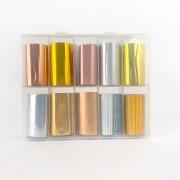 Kit pote com 10 foils para decoração de unhas #f3