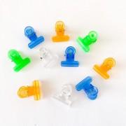Kit presilha acrílica colorida para curvatura c - 10 unidade - 2,2 cm