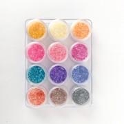Madrepérola para unhas - 12 cores