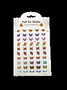 Molde adesivo borboleta colorida - art nail