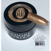Pó acrílico colorido colour powder gold lux - adore - 1 pote de 7g