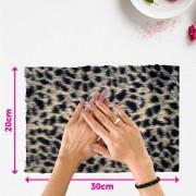 Tapete pelúcia pelo baixo estampado para manicure - fundo de foto - jaguatirica