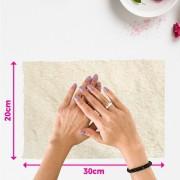 Tapete pelúcia pelo baixo liso para manicure - fundo de foto - branco