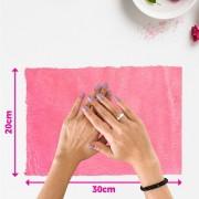 Tapete pelúcia pelo baixo liso para manicure - fundo de foto - rosa