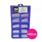 Tips de unha Fan Nails sorriso transparente - Caixa com 100un