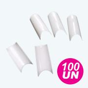 Tips de unhas curvatura C Natural - Embalagem com 100 Unidades