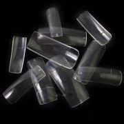 Tips de unhas square ou quadrada transparente - caixa com 100un - marca genérica
