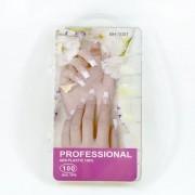 Tips de unhas stiletto estileto cor natural - caixa com 100un - marca genérica tp