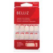 Unha Belliz Francesinha Vermelha - Belliz 1285 #PB1