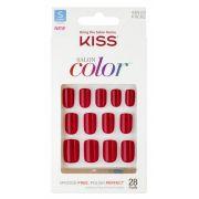 Unhas postiças KISS NY Salon Color - Curta KSC02