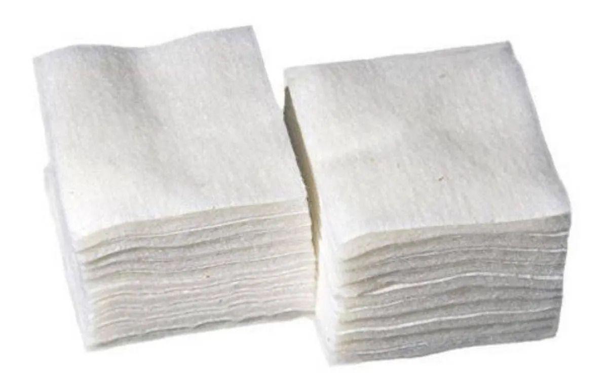 Algodão prensado para unhas - 100% natural 1000 unidades